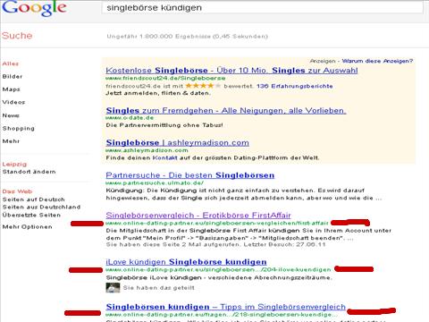 Webseite durch Pressemitteilung auf Seite eins bei Google