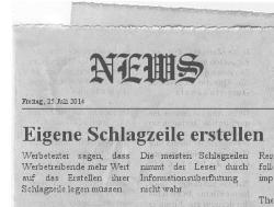 Eigene Schlagzeile erstellen und Aufmerksamkeit erzeugen